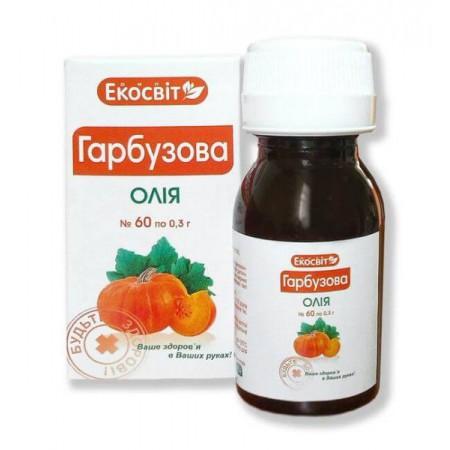 Масло тыквы в капсулах №60 (Экосвит Ойл)